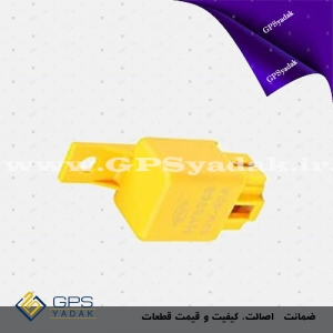 pt21890869 4 pins car air conditioner relay 12v 24v 40 amp lightweight with yellow coverرله ۴۰ آمپر زرد ۵ پایه ساخت داخل اتوتک