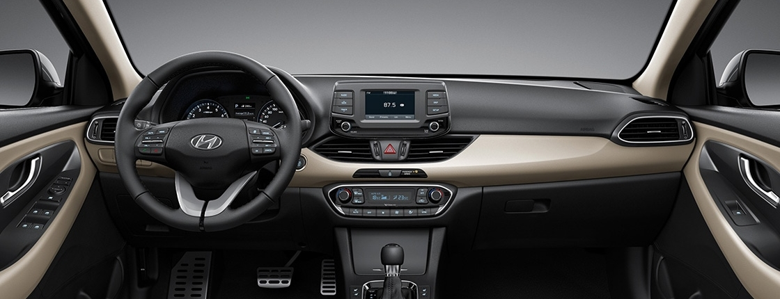 i30 pd 5dr gallery front view beige two tone interior pc