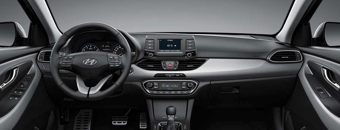 i30 pd 5dr gallery front view gray two tone interior pc